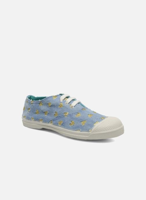 Trainers Bensimon Tennis Glitter Love E Bronze and Gold detailed view/ Pair view
