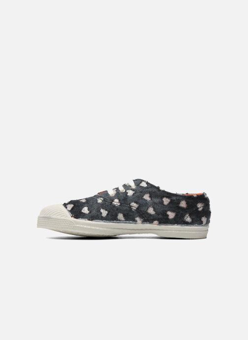 Sneakers Bensimon Tennis Glitter Love E Zwart voorkant