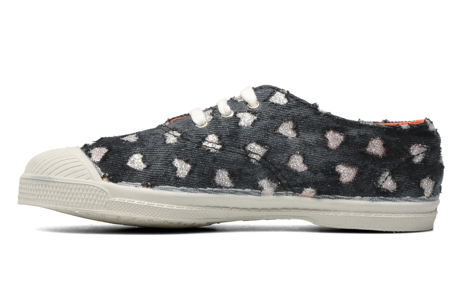 Baskets Bensimon Tennis Glitter Love E Noir vue face