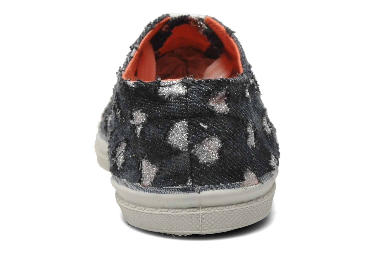 Trainers Bensimon Tennis Glitter Love E Black view from the right