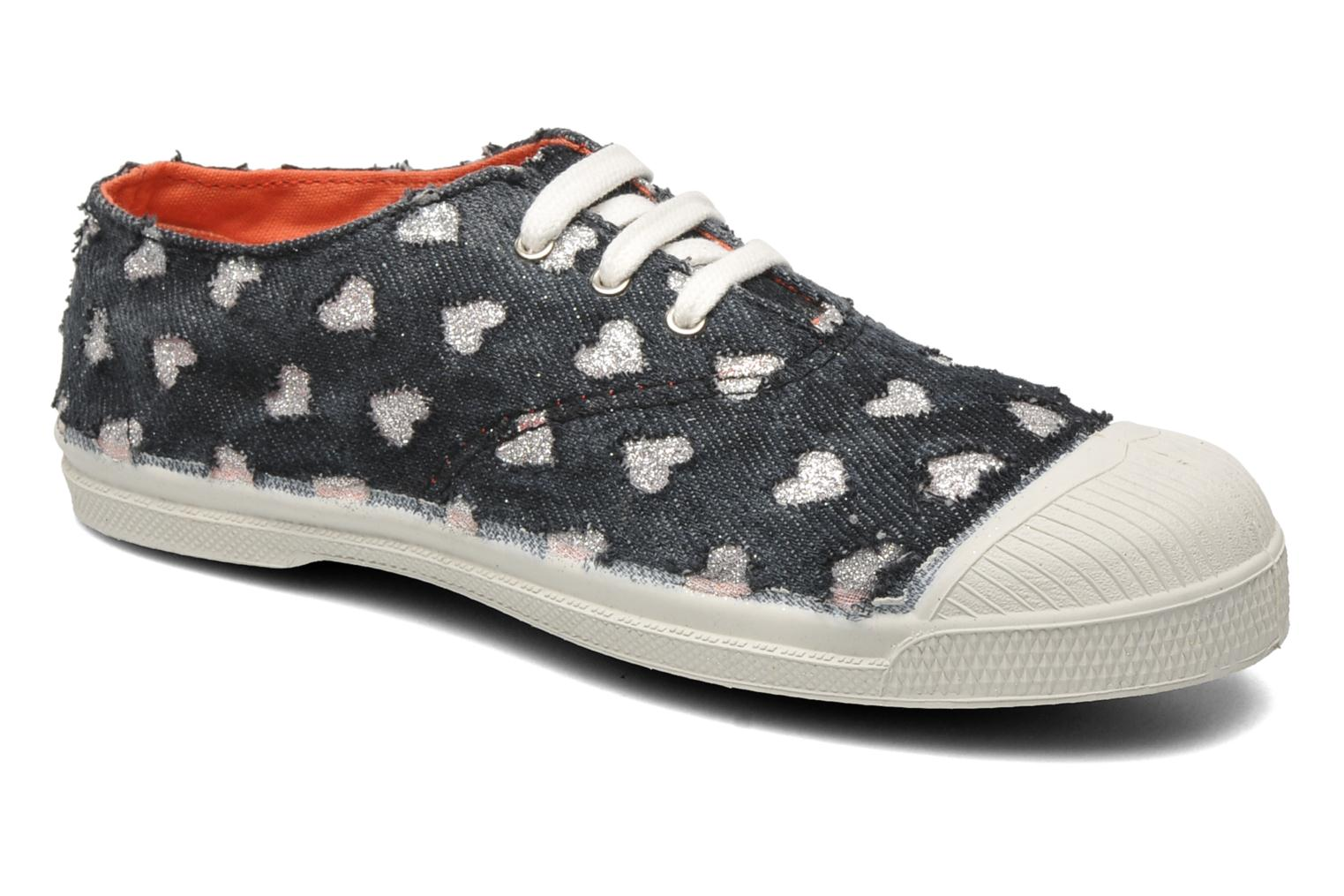 Baskets Bensimon Tennis Glitter Love E Noir vue détail/paire