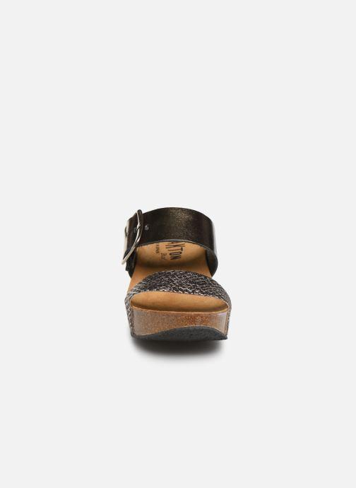 Mules et sabots Plakton So Rock Or et bronze vue portées chaussures