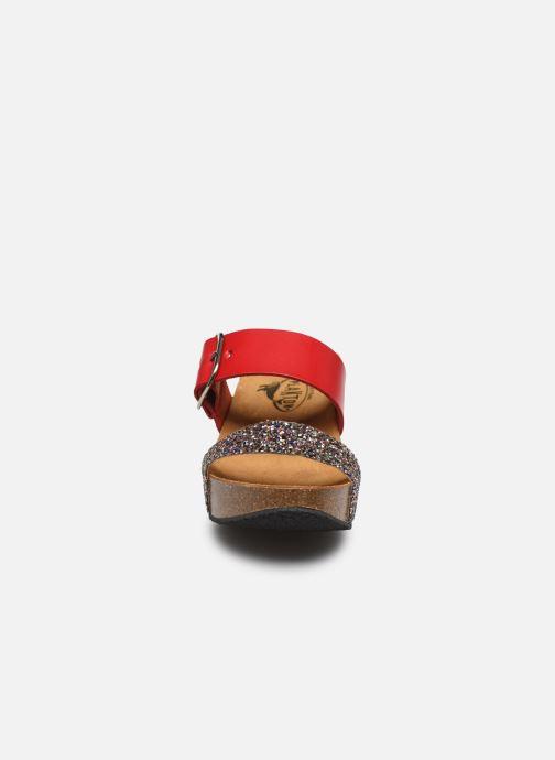 Mules et sabots Plakton So Rock Rouge vue portées chaussures