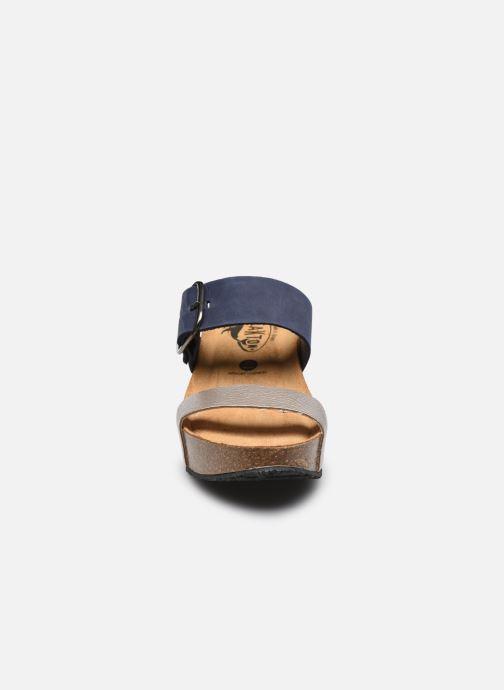Mules et sabots Plakton So Rock Bleu vue portées chaussures