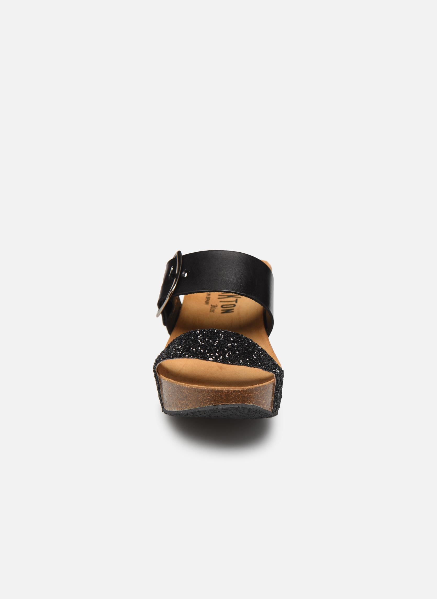 Mules et sabots Plakton So Rock Noir vue portées chaussures