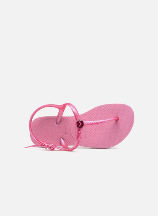 Sandals Havaianas Kids Freedom Pink view from the left