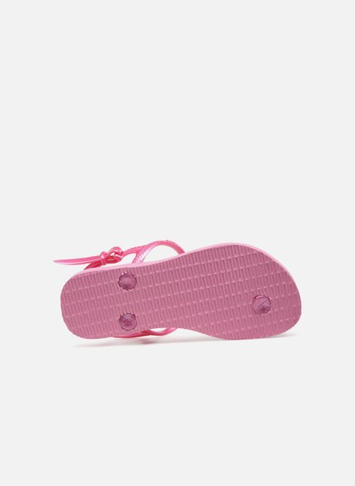 Sandals Havaianas Kids Freedom Pink view from above