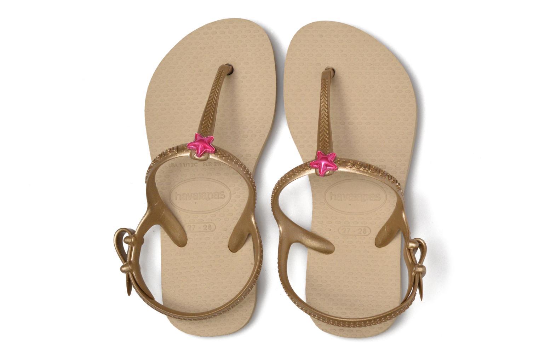 Sandales et nu-pieds Havaianas Kids Freedom Beige vue 3/4