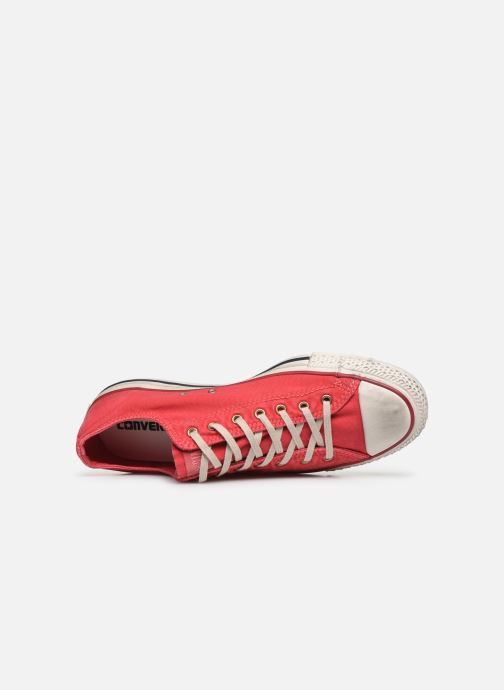 Baskets Converse Chuck Taylor All Star Fashion Washed Ox M Rouge vue gauche