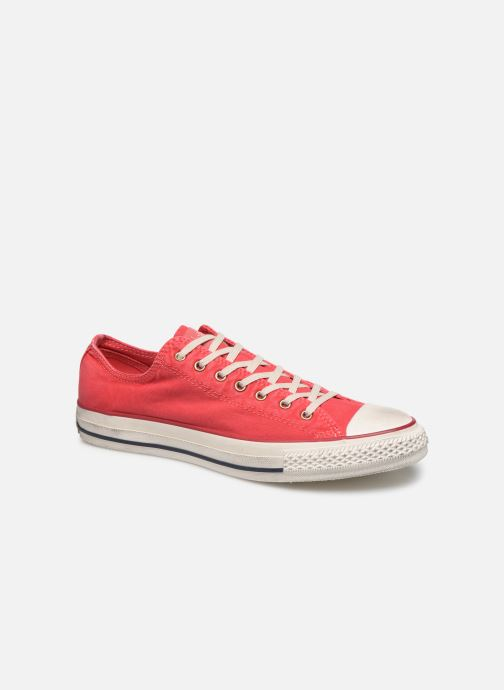 Baskets Converse Chuck Taylor All Star Fashion Washed Ox M Rouge vue détail/paire
