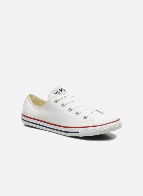 dd63b4b0bc3b03 Trainers Converse All Star Dainty Canvas Ox W White detailed view  Pair view