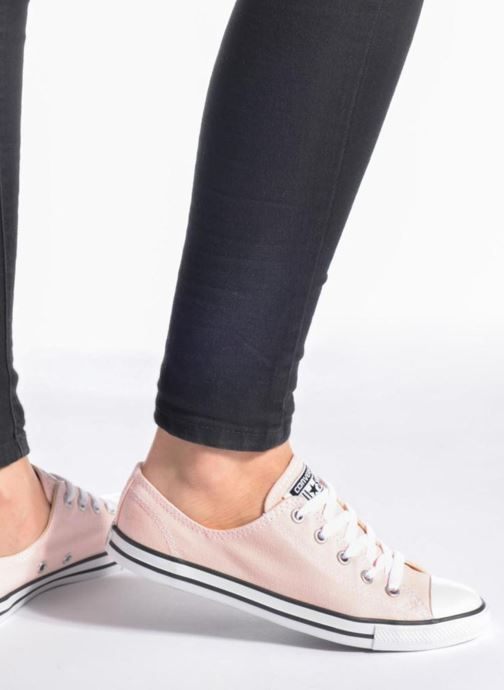 Trainers Converse All Star Dainty Canvas Ox W Grey view from underneath / model view