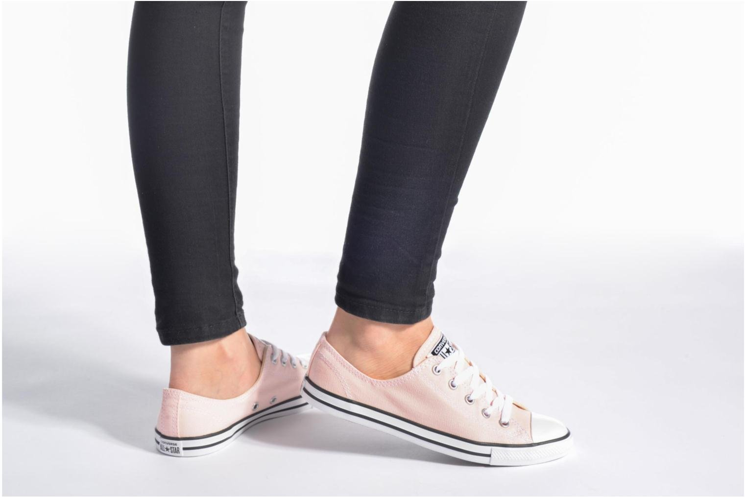Trainers Converse All Star Dainty Canvas Ox W Green view from underneath / model view