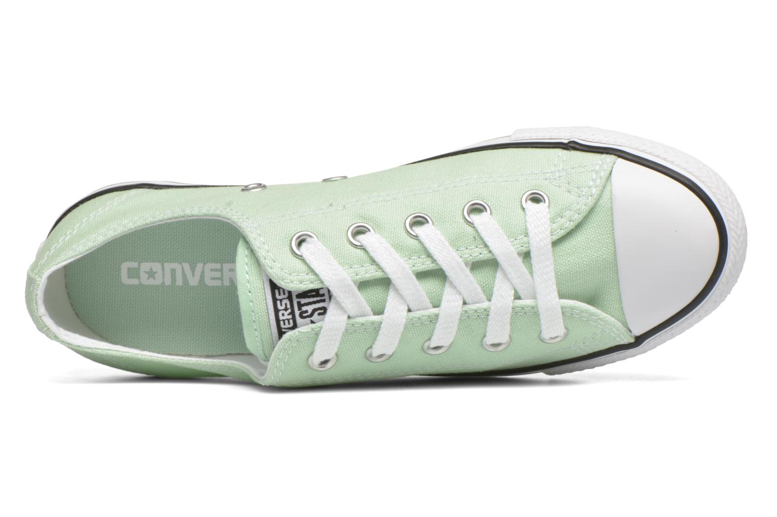 Trainers Converse All Star Dainty Canvas Ox W Green view from the left