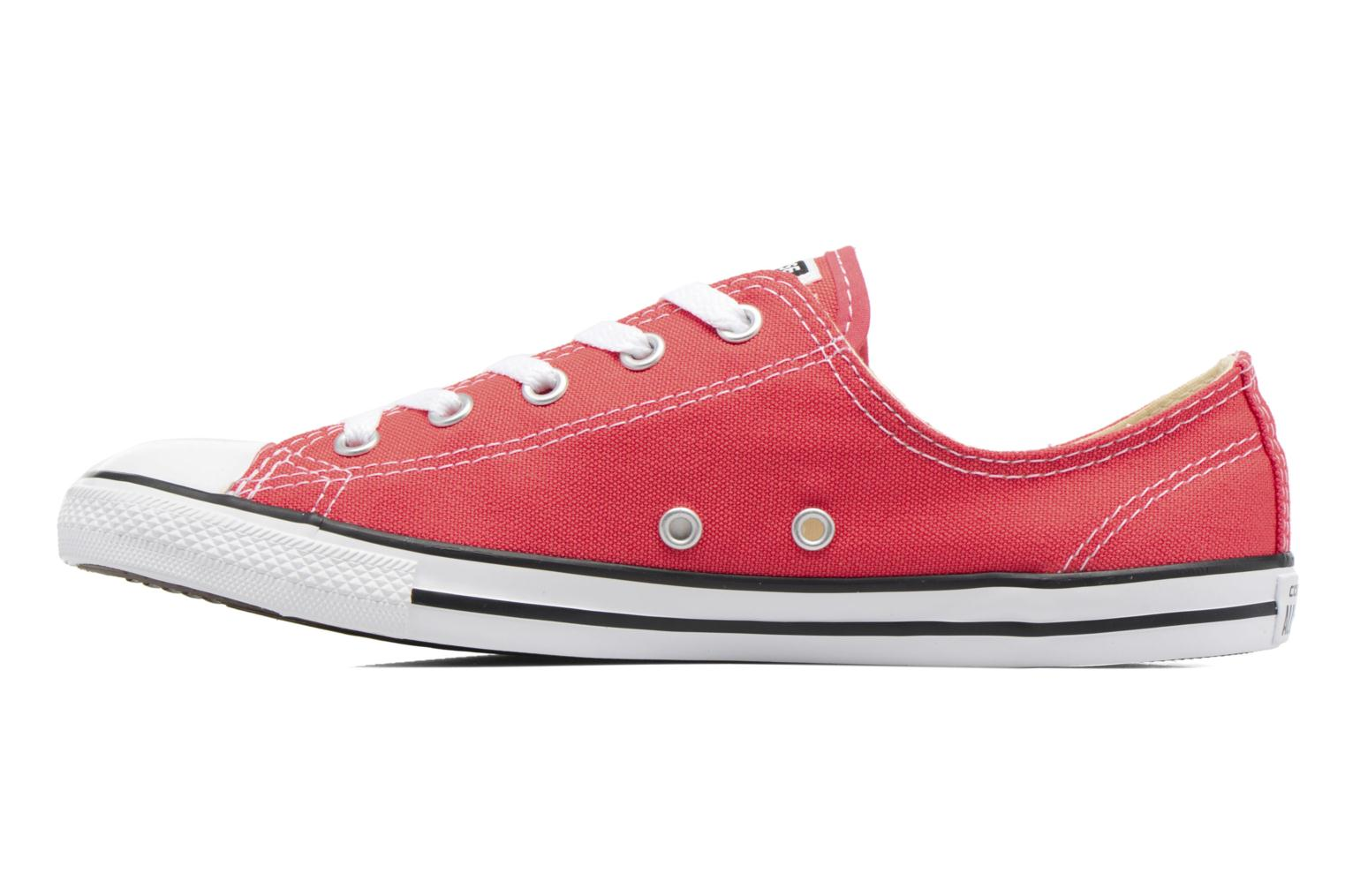 Baskets Converse All Star Dainty Canvas Ox W Rouge vue face