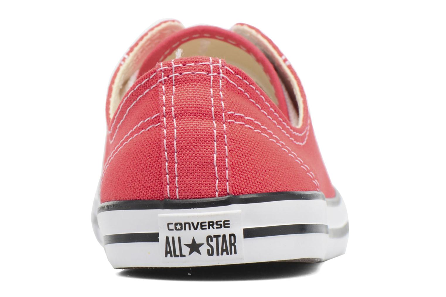 Baskets Converse All Star Dainty Canvas Ox W Rouge vue droite
