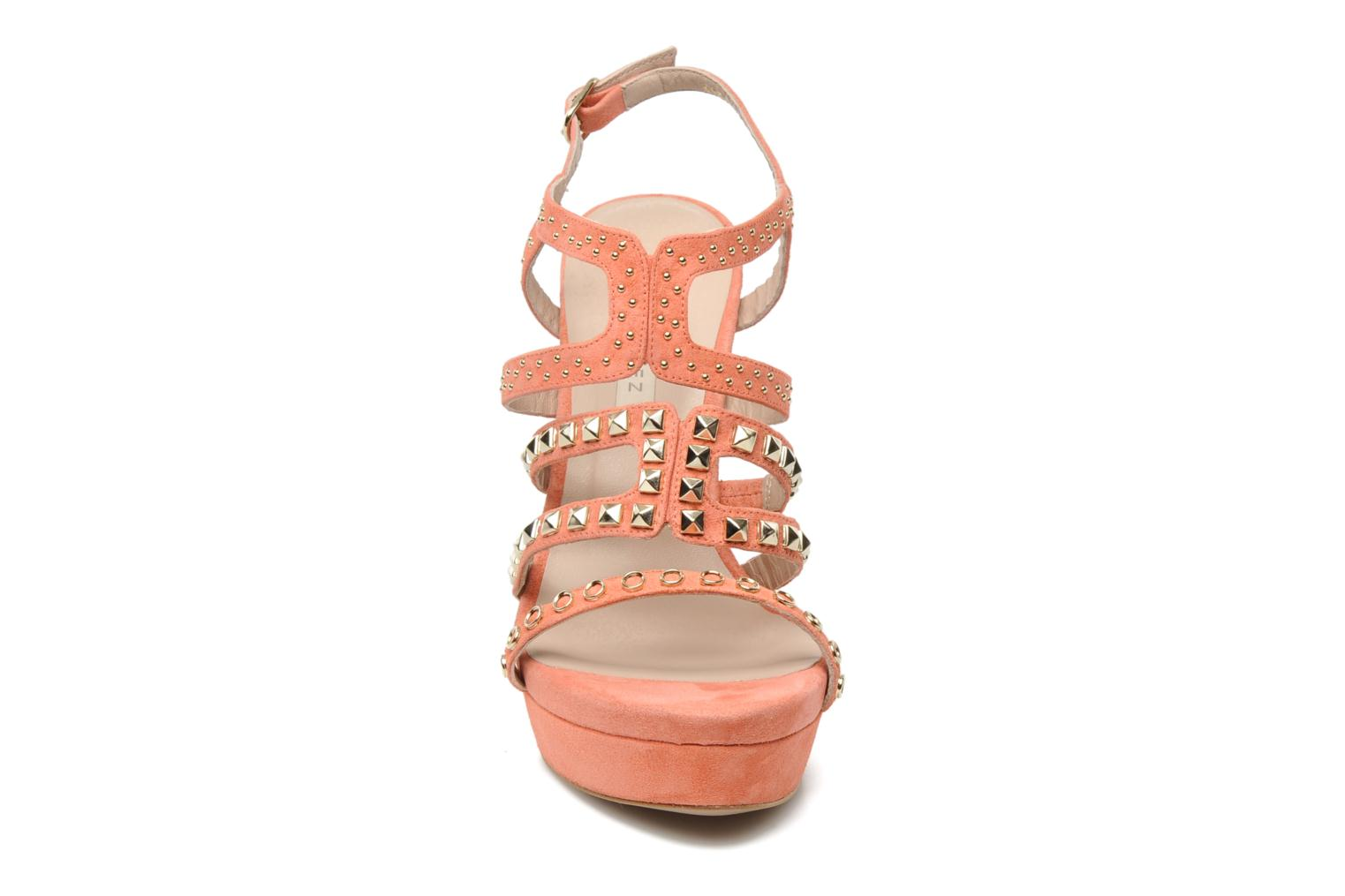 Sandals Pura Lopez Marika Pink model view