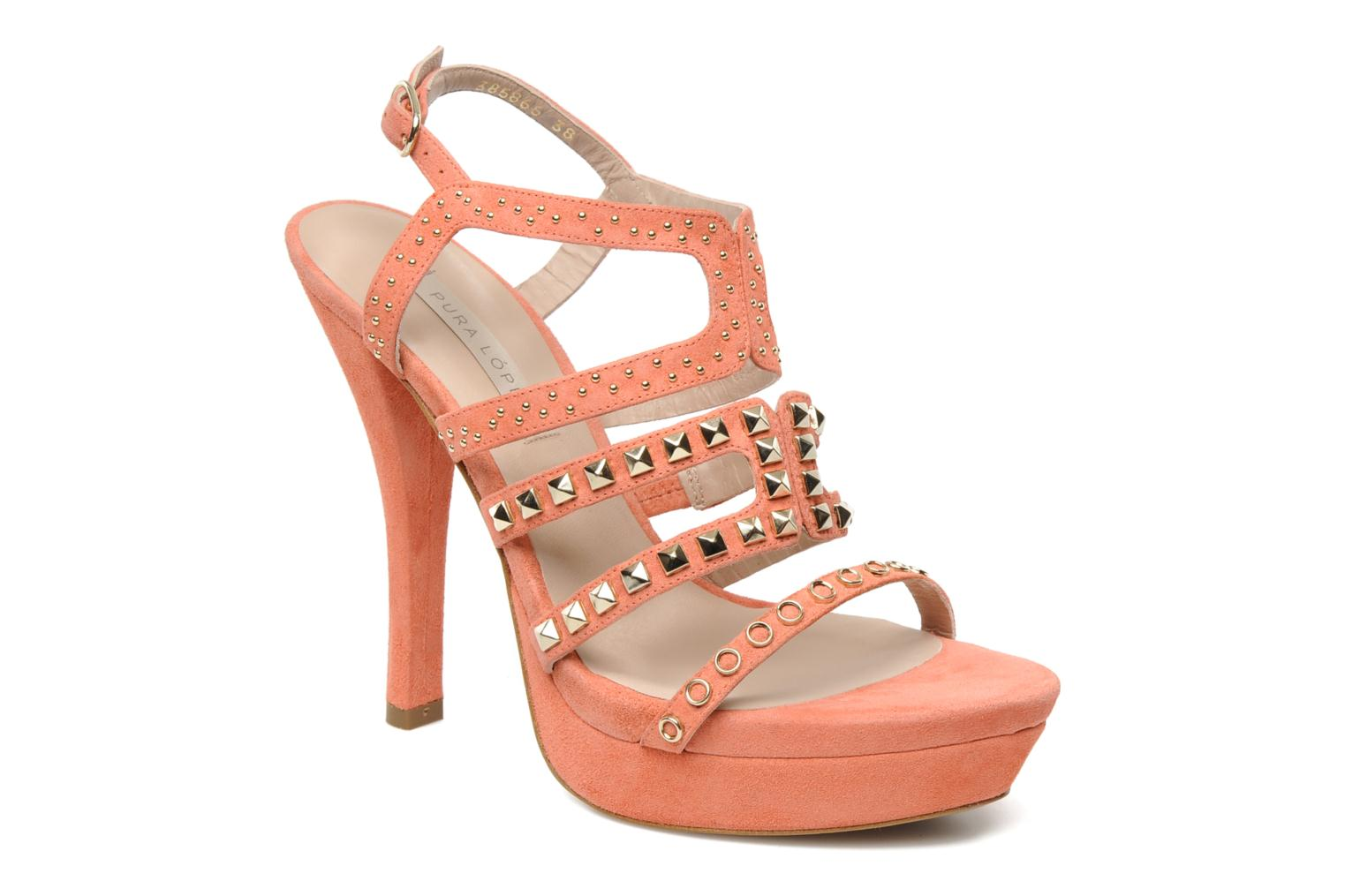 Sandals Pura Lopez Marika Pink detailed view/ Pair view