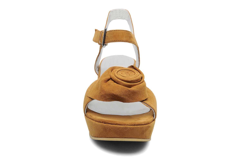 Sandales et nu-pieds M PAR M DESIR Marron vue portées chaussures