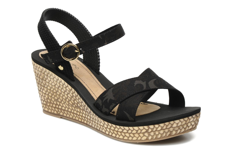 29bd2372c21e Sandales et nu-pieds Grendha Marine Plat Sandal Fem Noir vue détail paire
