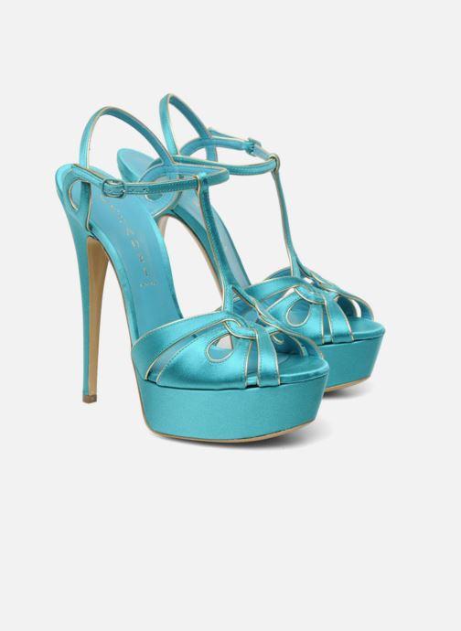 Sandales et nu-pieds Casadei Bibiana Bleu vue 3/4