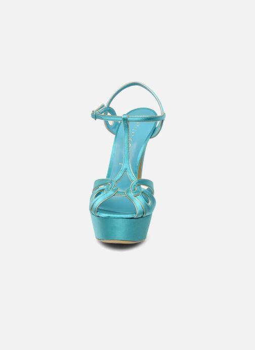 Sandales et nu-pieds Casadei Bibiana Bleu vue portées chaussures