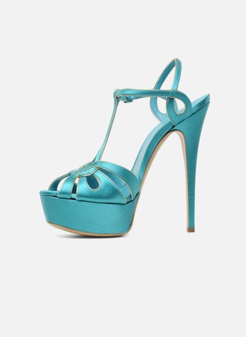 Sandales et nu-pieds Casadei Bibiana Bleu vue face