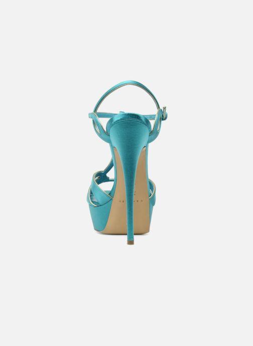 Sandales et nu-pieds Casadei Bibiana Bleu vue droite