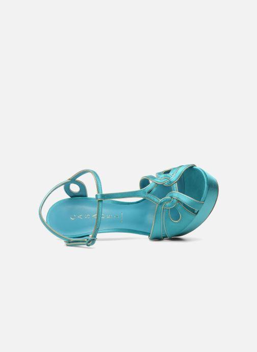 Sandales et nu-pieds Casadei Bibiana Bleu vue gauche