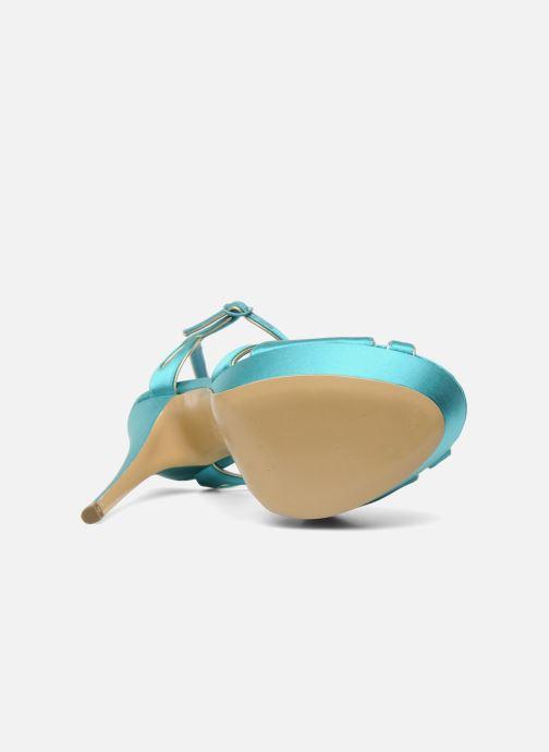 Sandales et nu-pieds Casadei Bibiana Bleu vue haut
