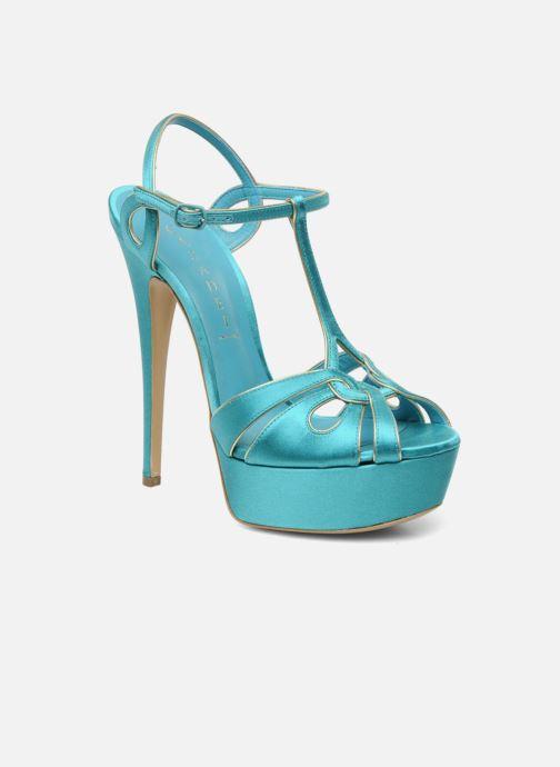 Sandales et nu-pieds Casadei Bibiana Bleu vue détail/paire