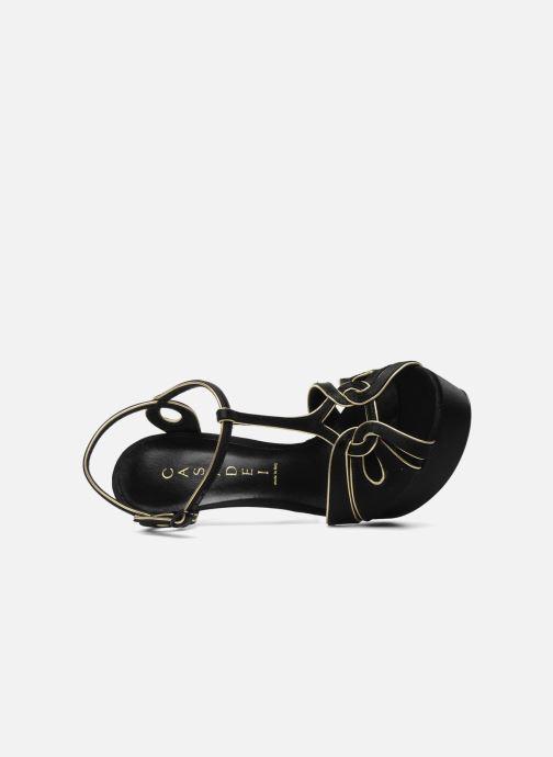 Sandales et nu-pieds Casadei Bibiana Noir vue gauche