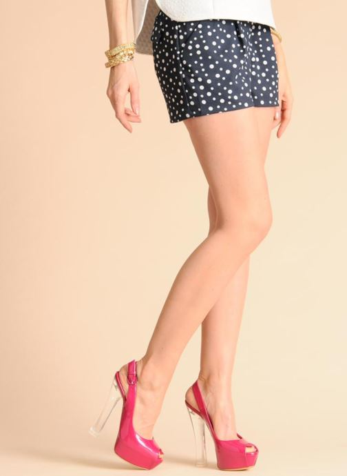 Sandales et nu-pieds Casadei Flaminia Rose vue bas / vue portée sac