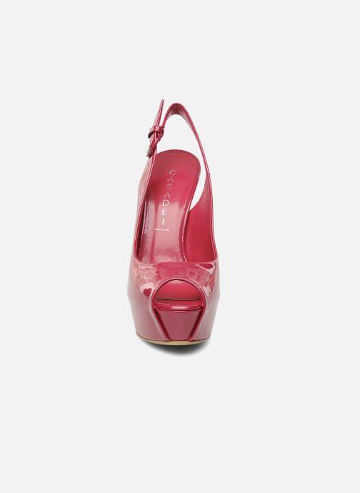 Sandales et nu-pieds Casadei Flaminia Rose vue portées chaussures