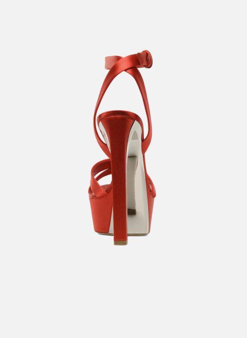 Sandales et nu-pieds Casadei Gioconda Rouge vue droite