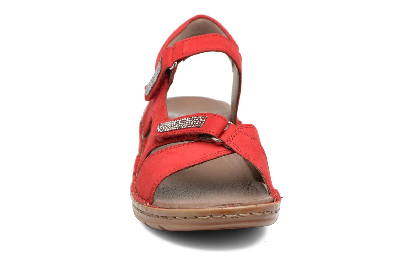 Mules et sabots Ara Hawai Rouge vue portées chaussures