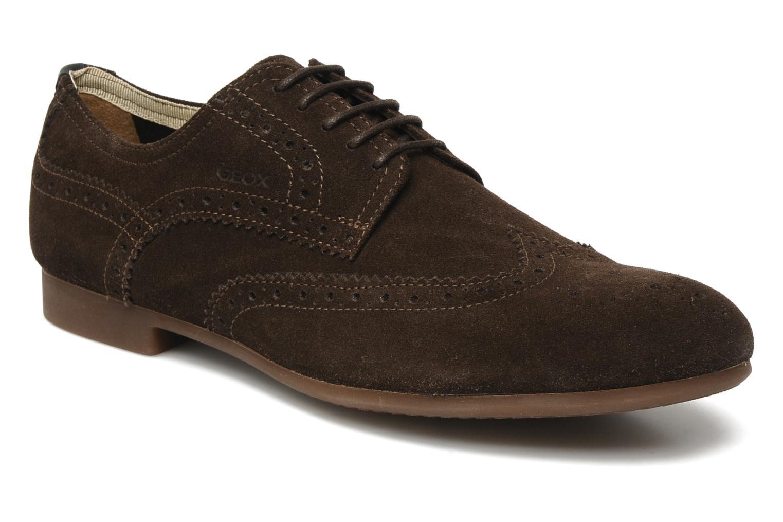 Chaussures à lacets Geox U YALE M Marron vue détail/paire