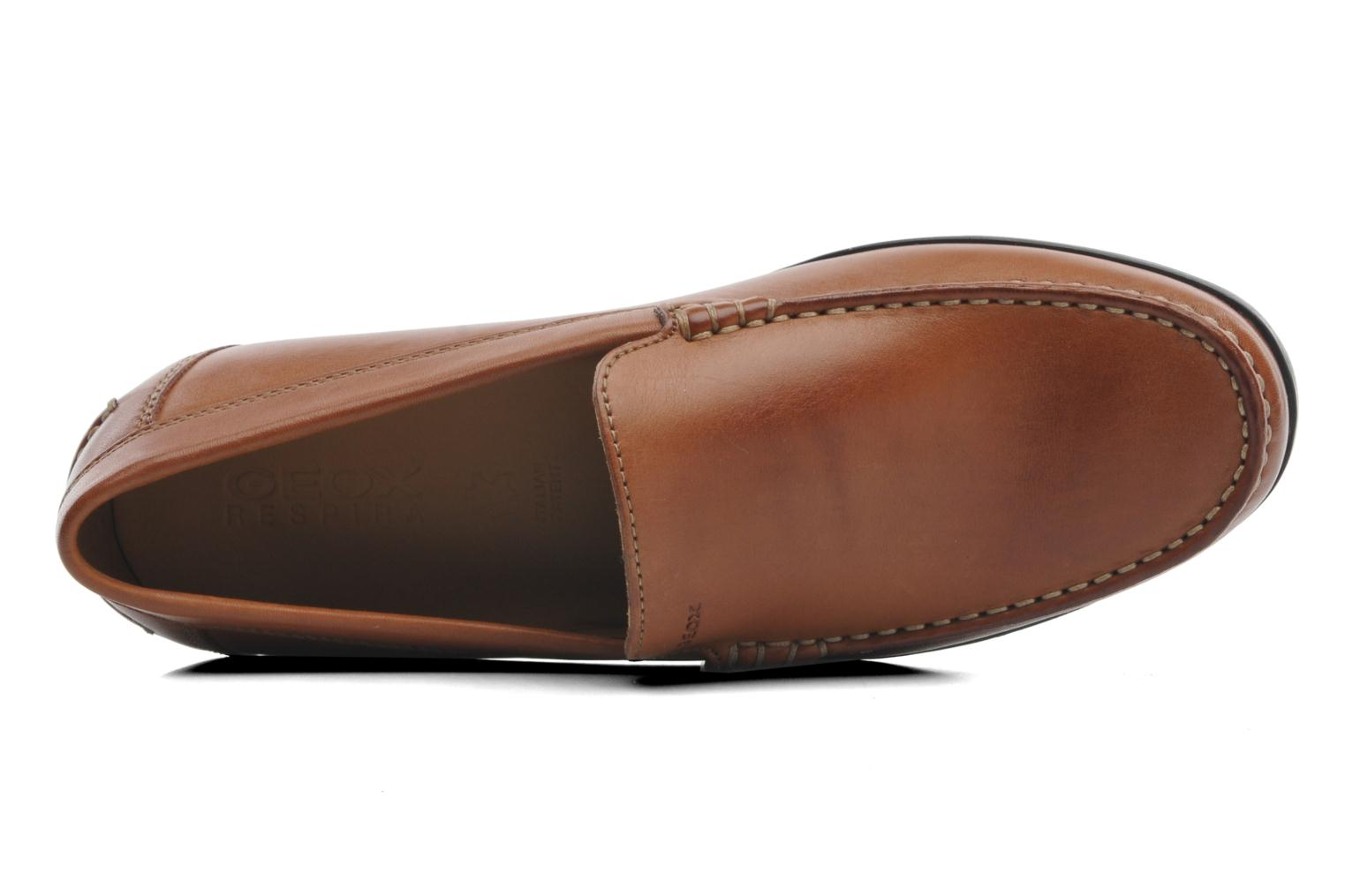 Loafers Geox U SIMON A U32Q3A Brown view from the left