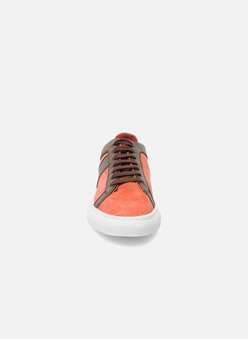 Sneaker Bensimon Flexys Suède/cuir F rot schuhe getragen