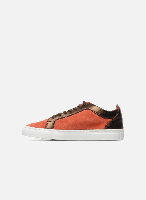 Sneaker Bensimon Flexys Suède/cuir F rot ansicht von vorne