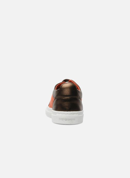 Trainers Bensimon Flexys Suède/cuir F Red view from the right