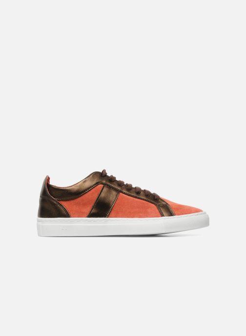 Sneakers Bensimon Flexys Suède/cuir F Rood achterkant
