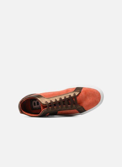 Sneaker Bensimon Flexys Suède/cuir F rot ansicht von links