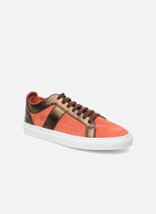 Sneaker Bensimon Flexys Suède/cuir F rot detaillierte ansicht/modell
