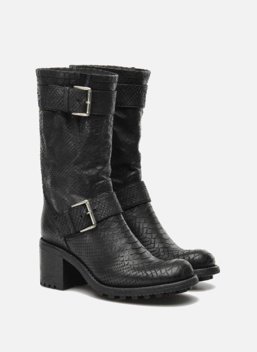 Ankle boots Free Lance Biker 7 Mid Strap Black 3/4 view