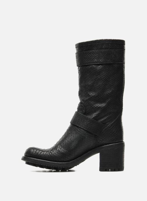 Ankle boots Free Lance Biker 7 Mid Strap Black front view
