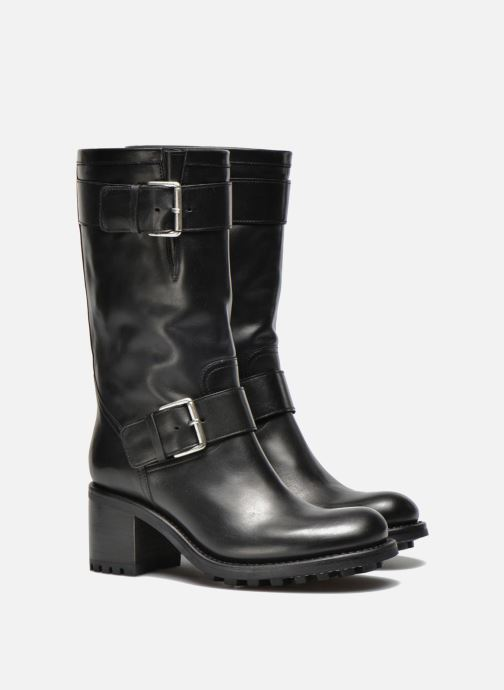 Ankle boots Free Lance Biker 7 Mid Strap Black 3/4 view