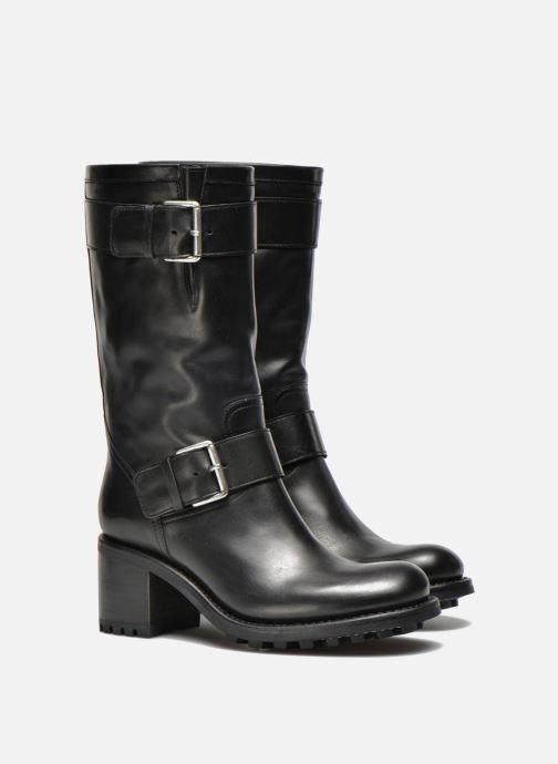 Bottines et boots Free Lance Biker 7 Mid Strap Noir vue 3/4