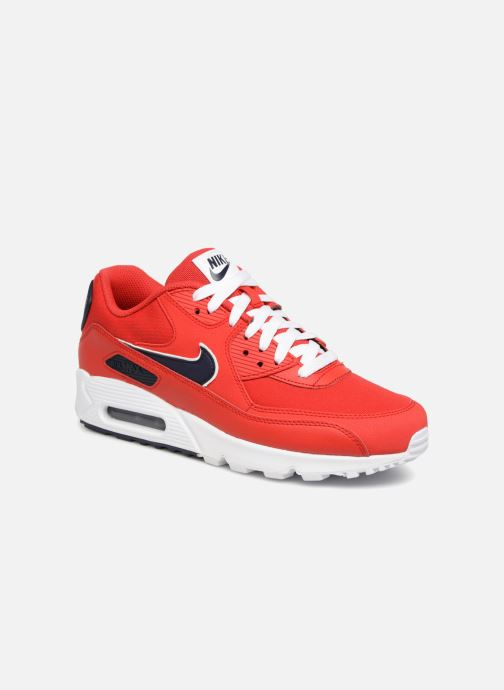 best sneakers a5883 a3acf Baskets Nike Nike Air Max 90 Essential Rouge vue détail paire