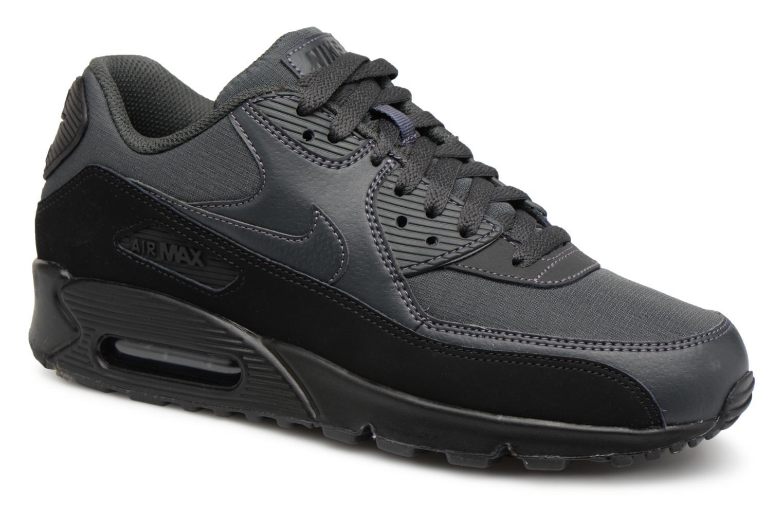 low priced dca2f 0bba0 ... LEATHER Noir  Baskets Nike Nike Air Max 90 Essential Noir vue détail  paire ...